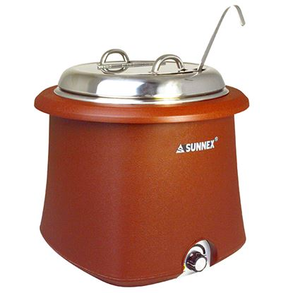 Picture of GALENA SOUP KETTLE 10L SS LID- BROWN
