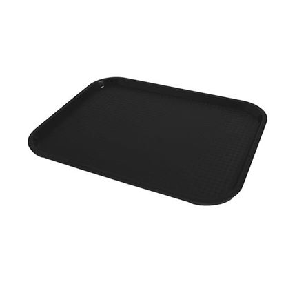 """Picture of FAST FOOD BLACK TRAY 34x26CM /13.5"""" X 10"""""""