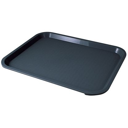 """Picture of FAST FOOD BLACK TRAY 31 X 41cm/12"""" X 16"""""""