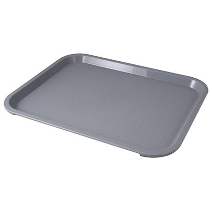 """Picture of FAST FOOD GREY TRAY 36 X 46CM/ 14"""" X 18"""""""