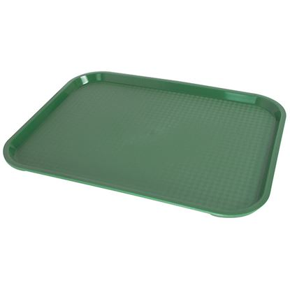 """Picture of FAST FOOD GREEN TRAY 36 X 46cm/14"""" X 18"""""""