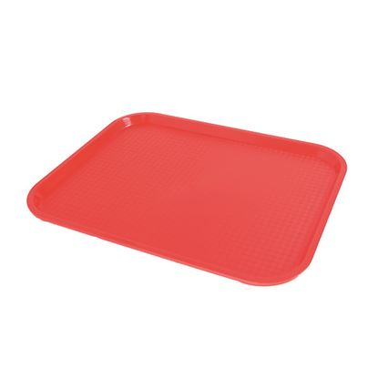 """Picture of FAST FOOD RED TRAY 26 X 34cm/ 13.5"""" X 9.75"""""""