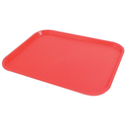 """Picture of FAST FOOD RED TRAY 31 X 41CM / 12"""" X 16"""""""