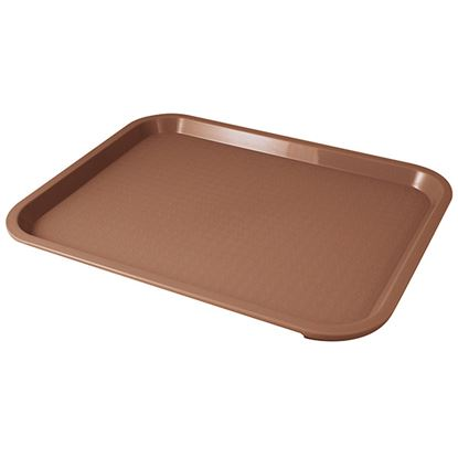 """Picture of FAST FOOD BROWN TRAY 26x34CM /13.5"""" X 9.75"""""""