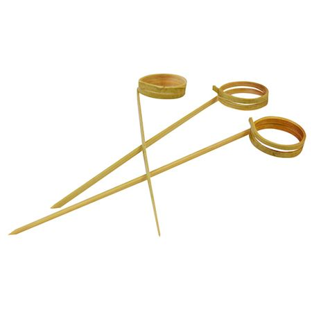 """Picture of BAMBOO KNOTTED SKEWERS 12CM/4.5"""" PACK 100pcs"""