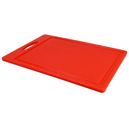 """Picture of CHOPPING BOARD 14"""" X 10"""" X 0.5"""" RED"""