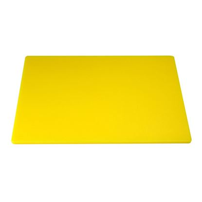 """Picture of CHOPPING BOARD 18"""" X 12"""" X 0.5"""" YELLOW"""