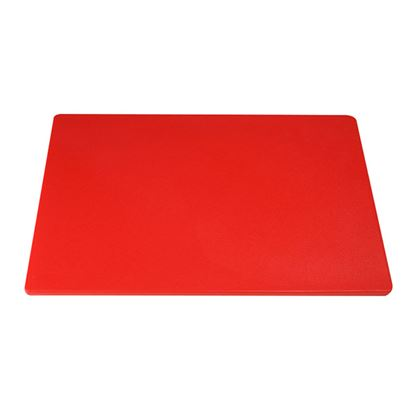 """Picture of CHOPPING BOARD 18"""" X 12"""" X 0.5"""" RED"""