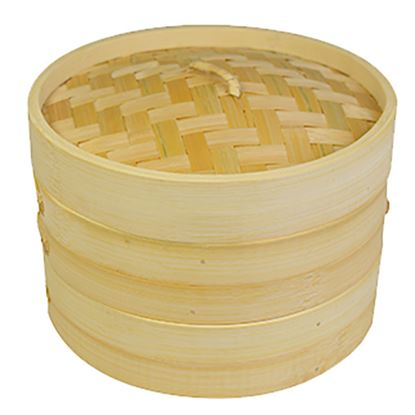 """Picture of BAMBOO STEAMER 20CM - 8"""""""