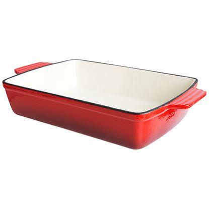 Picture of RED CAST IRON RECTANGULAR DISH 28cm