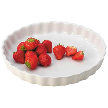 Picture of WHITE FLAN DISH 25.5 CM / 1.25 LTR
