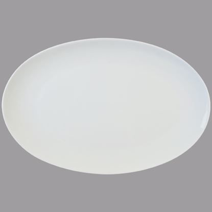 """Picture of ORION COUPE OVAL PLATTER 40CM / 16""""Length 39.5CM, Width 28CM"""