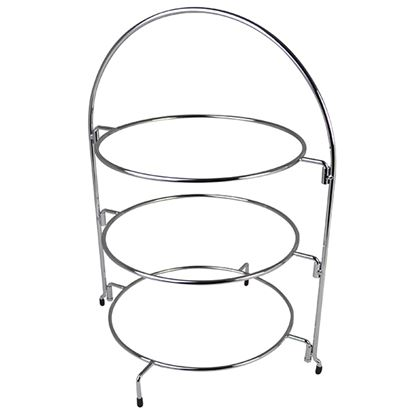 """Picture of CHROME WIRE CAKE STAND 24"""" 61CM"""
