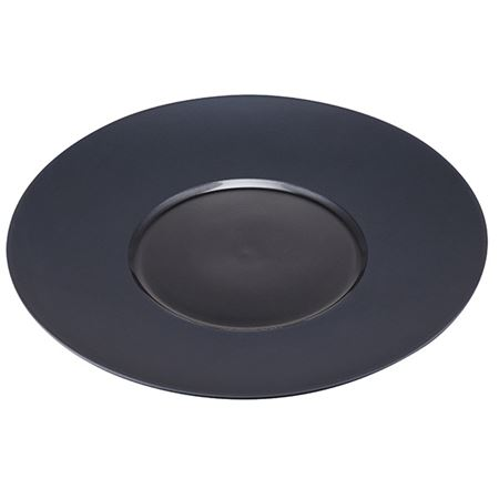 """Picture of CONTRA ROUND PLATE BLACK 12"""""""