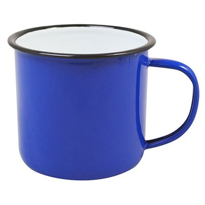 "Picture of ENAMEL MUG 9cm/3.5""  13oz/ 360ml- BLUE"