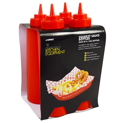 Picture of SAUCE BOTTLE RED 32 OZ PACK 4