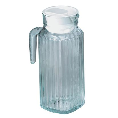 Picture of GLASS RIBBED JUG & LID 1.2L/2.5PT PACK OF 6