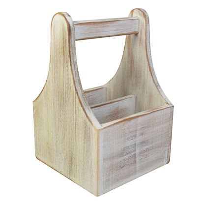 Picture of 'NATURALS' TABLE CADDY WHITE WASH