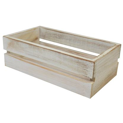Picture of 'NATURALS'CONDIMENTS CRATE WHITE WASH