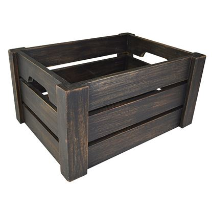 Picture of 'NATURALS' DISPLAY CRATE BLACK WASH
