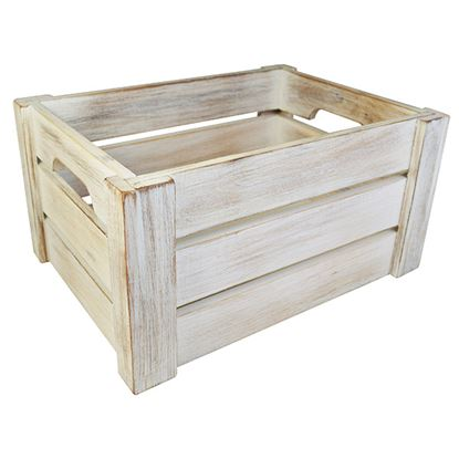 Picture of 'NATURALS' DISPLAY CRATE WHITE WASH