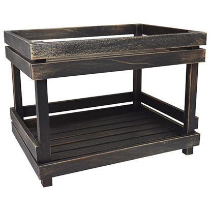 Picture of 'NATURALS' 2 TIER DISPLAY SHELVES BLACK WASH