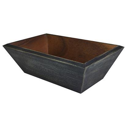 Picture of 'NATURALS' BREAD BOX BLACK WASH