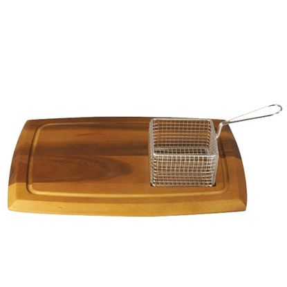 Picture of ACACIA WOODEN SERVING BOARD W/SQUARE RECESS