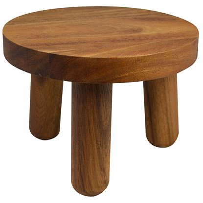 Picture of NATURALS ACACIA WOOD ROUND BUFFET STAND Dia 20cm x 15cm