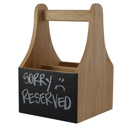 Picture of NATURALS CADDY WITH CHALKBOARD-2 COMPARTMENTS