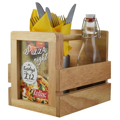 Picture of NATURALS CONDIMENT CADDY WITH MENU HOLDER