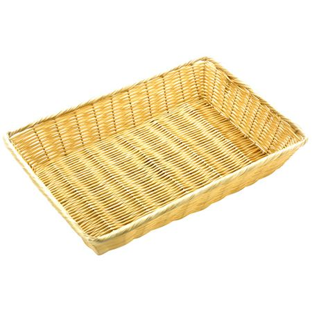 """Picture of POLY RATTAN BASKET RECTANGULAR 28x40cm/11X16"""""""
