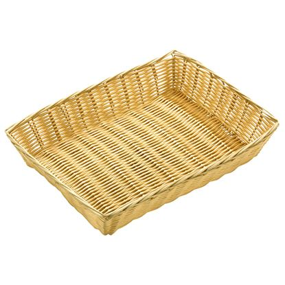 """Picture of POLY RATTAN BASK RECT 20 X 30 X 6 CM /12""""X8"""""""