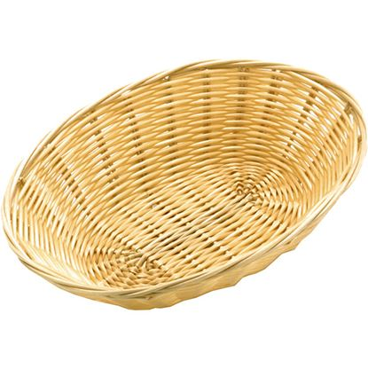"""Picture of POLY RATTAN BASKET OVAL 23 CM / 9"""""""