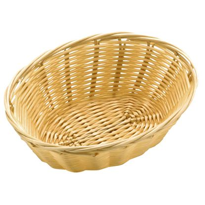 """Picture of POLY RATTAN BASKET OVAL 18 CM / 7"""""""