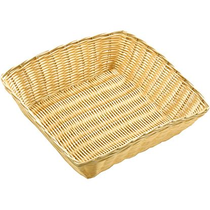 """Picture of POLY RATTAN BASKET SQUARE 25 CM / 10"""""""