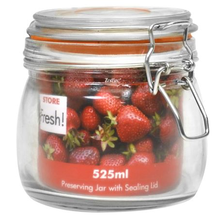 Picture of 11cm CLIPTOP GLASS PRESERVING JAR 525ml