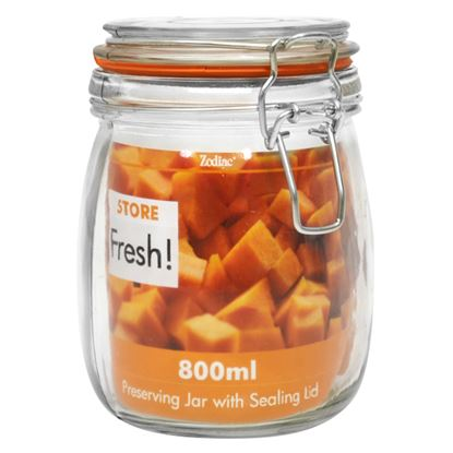 Picture of 14cm CLIPTOP GLASS PRESERVING JAR 800ml