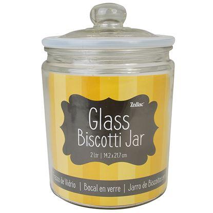 Picture of GLASS 'BISCOTTI JAR'   H:21.7CM D:14.2CM 2L