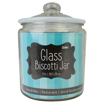 Picture of GLASS 'BISCOTTI JAR'   H:26CM D:18.2CM 4L