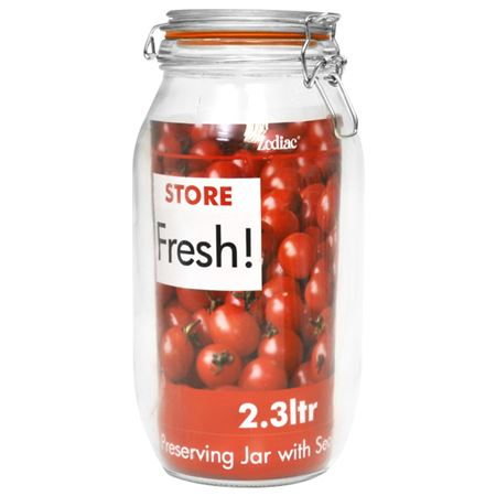 Picture of 25.5 CM CLIPTOP GLASS PRESERVING JAR 2300ML