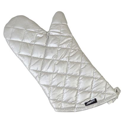 """Picture of GREY SILICONE OVEN MITT 15"""""""