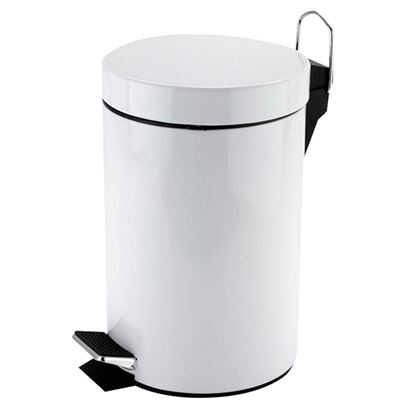 Picture of PEDAL BIN WHITE ROUND  3 LITRE