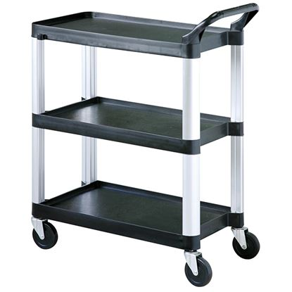 Picture of SUNNEX CLEARING TROLLEY 3 SHELVES BLACK