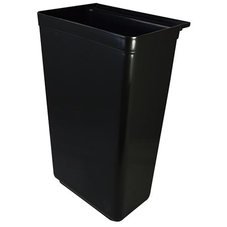 """Picture of BLACK PP WASTE BIN, 33 X 22.5 X 56CM / 13 X 9 X 22"""" For use with 87310K Trolley"""