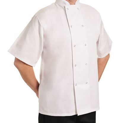 Picture of CHEF JACKET SHORT SLEEVE X SMALL