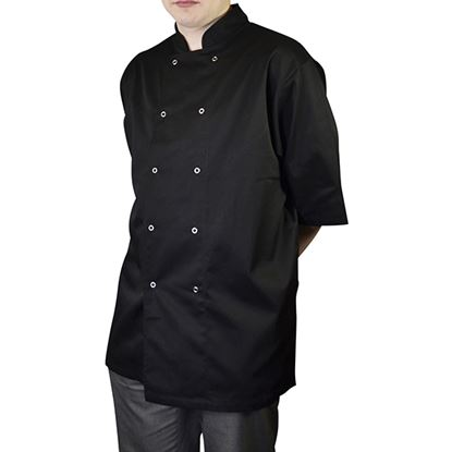 Picture of CHEF JACKET SHORT SLEEVE BLACK X SMALL