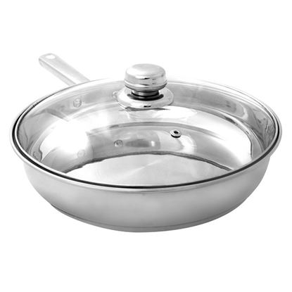 Picture of ULTRA FRYPAN & GLASS LID S/S 24cm/ 4.5 L