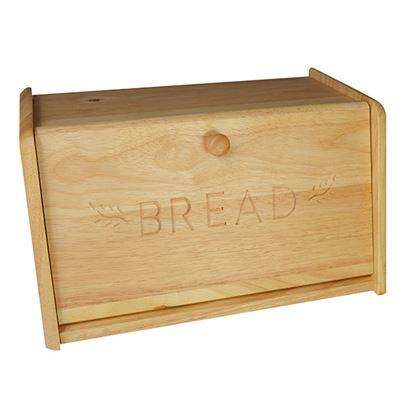 Picture of 'NATURALS' WOODEN BREAD BIN