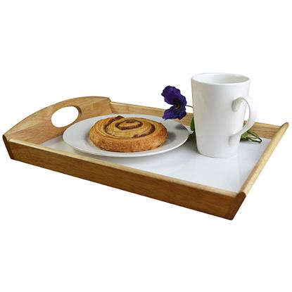 Picture of 'NATURALS' WOODEN TRAY WITH OVAL HOLE HANDLE